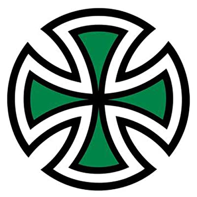 "Independent Cut Cross 2"" green Sticker"