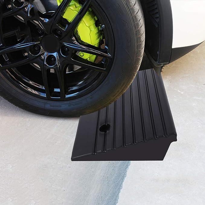 rampas de goma de alto rendimiento para coche AYNEFY Rampas de bordillo de goma 2 unidades moto silla de ruedas