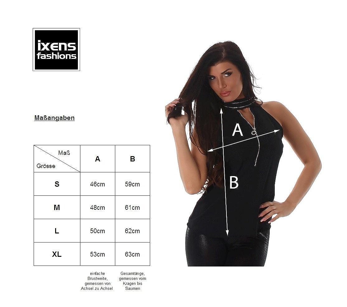 6c19256801 Voyelles Camisas - Blusa - Liso - Cuello Alto - para Mujer Rosa L   Amazon.es  Ropa y accesorios