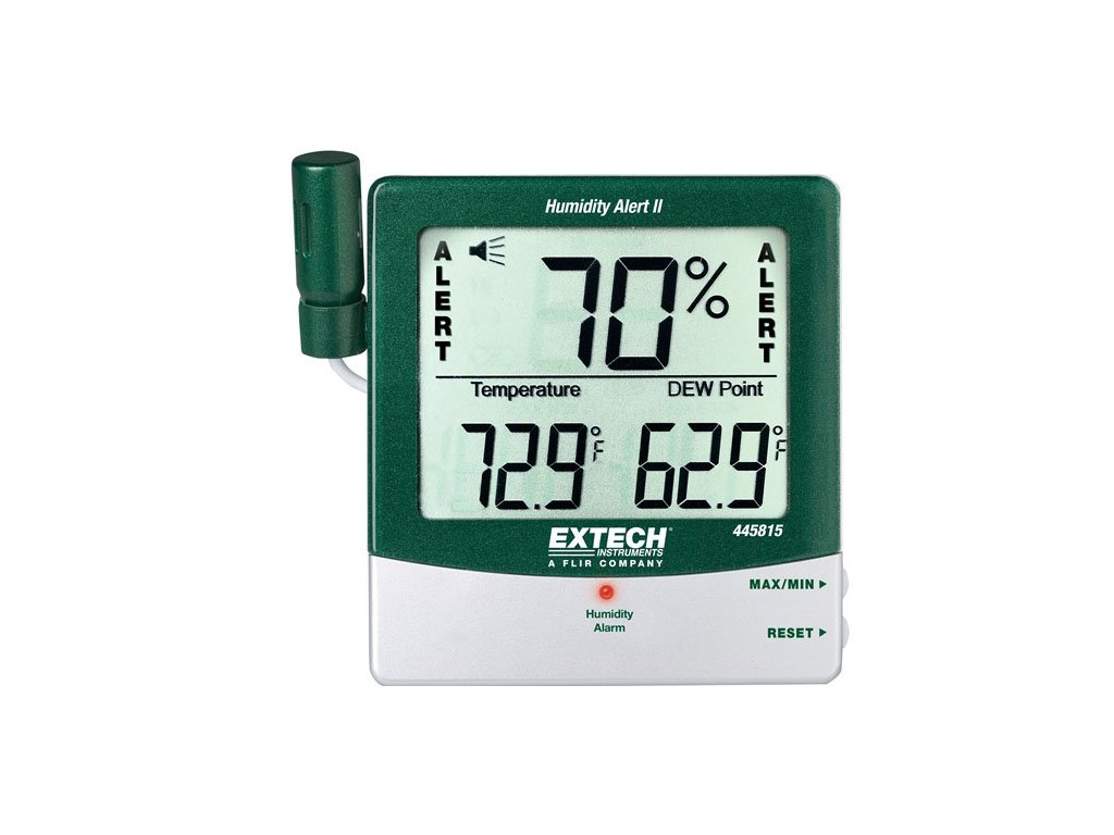Extech 445815-NIST Hygro-Thermometer and Humidity Alert with Dew Point and NIST by Extech
