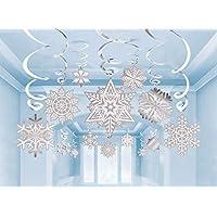 30 PCS Christmas Decoration Snowflake Hanging Swirl Decoration Snowflake White Party Supplies((Snowflakes)