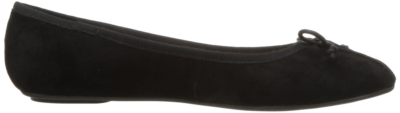Nine West Women's Batoka Suede Ballet Flat B072MPCS4H 10 B(M) US|Black/Black Suede