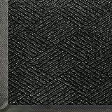 Andersen 2295 Waterhog Eco Premier Polyester Fiber Entrance Indoor/Outdoor Floor Mat, SBR Rubber Backing, 5-Feet Length X 3-Feet Width, 3/8-Inch Thick, Black Smoke