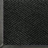 WaterHog Eco Commercial-Grade Entrance Mat, Indoor/Outdoor Black Smoke Floor Mat   5' Length x 3' Width,   Black Smoke    by M+A Matting -