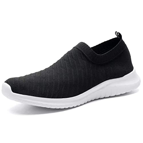 febf8669bc0f3 konhill Women's Lightweight Casual Walking Athletic Shoes Breathable Mesh  Running Slip-On Sneakers