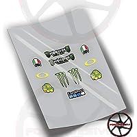 PEGATINAS VISERA CASCO ROSSI 46 FA15 STICKERS ADESIVO
