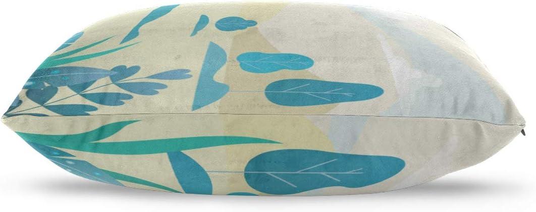 Amazon Com Xuyonh Pillow Cases King Blue Tree Fantastic Landscape Cotton Reversible Zipper Standard Size 20x 30 Inch Cotten Pillowcases Decorative Pillow Covers Small Pillow Cover Home Kitchen