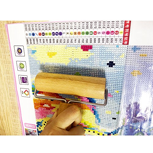 SZLTZK Diamond Painting Tools Wooden Roller, Ideal Pressing Accessories Tools for Diamond Painting Kits for Adults
