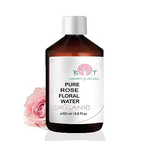 Agua Floral Puro Ecológico Hidrolato de Rosa ORGÁNICO Piel Sensible / Piel Madura 100 ml