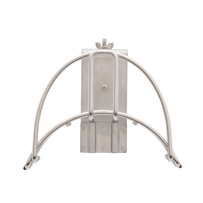 ガオナ(Gaona) ホース10mノズルハンガーセット 水まきセット GA-QD049 ステンレス ビス2本 B07DJ24379 壁付用(幅158mm)|ホースハンガーとホースノズルのセット
