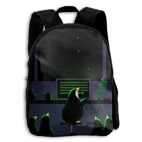 Amazon.com  Penguin At Work Printed Durable Kid s Mini Backpack ... 2fb346b037d2f