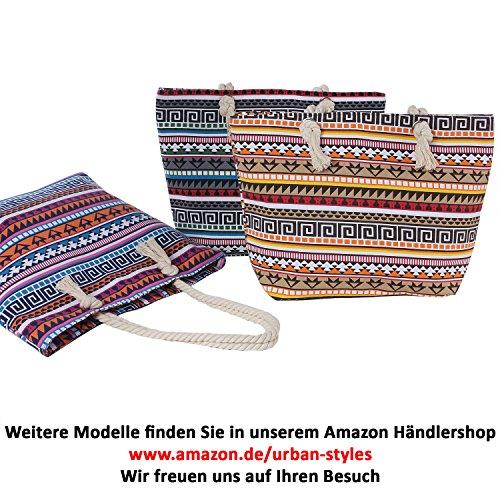 Varios Bolso Ethno de Colores tela para mujer 2 DonDon fX0qwX