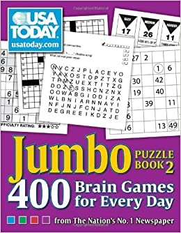 Amazon Com Usa Today Jumbo Puzzle Book 2 400 Brain Games For Every