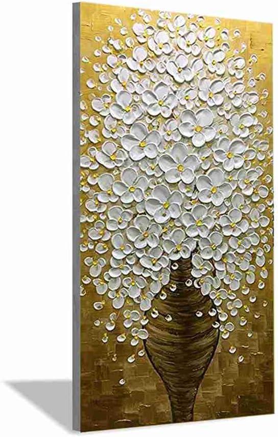 100% puro Pintura al óleo pintada a mano,Espátula Jarrón de flores abstracto sobre lienzo paisaje Pintura mural moderna de gran tamaño,pop art fotos,para el Salón decoracion,100x200cm sin marco