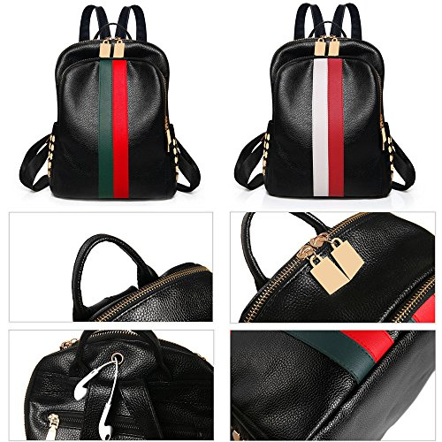 Review Mini Cute Backpack Purse Luxury Mini Bags PU Leather Small Backpack Handbag Purse Teen Travel School Black Bags For Women and Grils Alovhad
