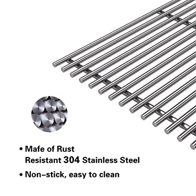 """2-PC Stainless Steel Cooking Grid Grates for 2 Burners CharBroil 16 15//16/"""""""