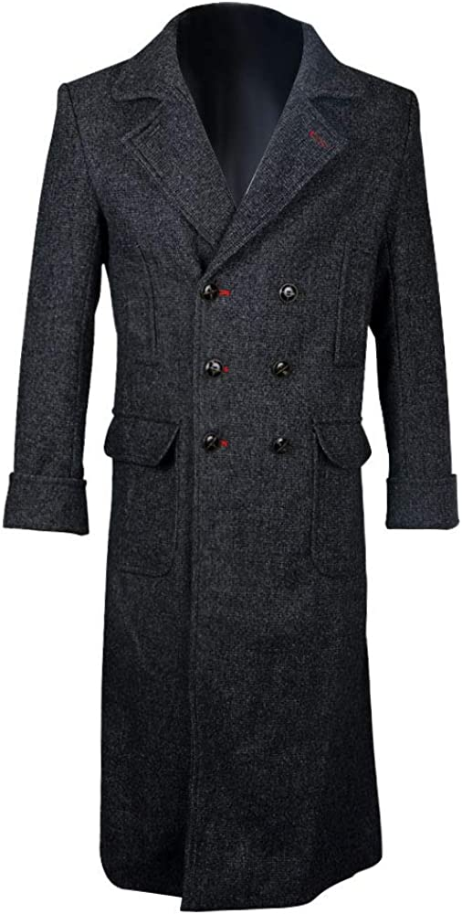 Sherlock Holmes Long Wool Mens Cape Coat Cosplay Costume