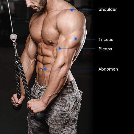 Domybest Trizeps Seil Sportpresse Kabelbefestigung mit 2X kraftvollem Griffkabel und 3X Karabinerhaken f/ür M/änner Frauen Sport Bodybuilding Fitnessger/äte
