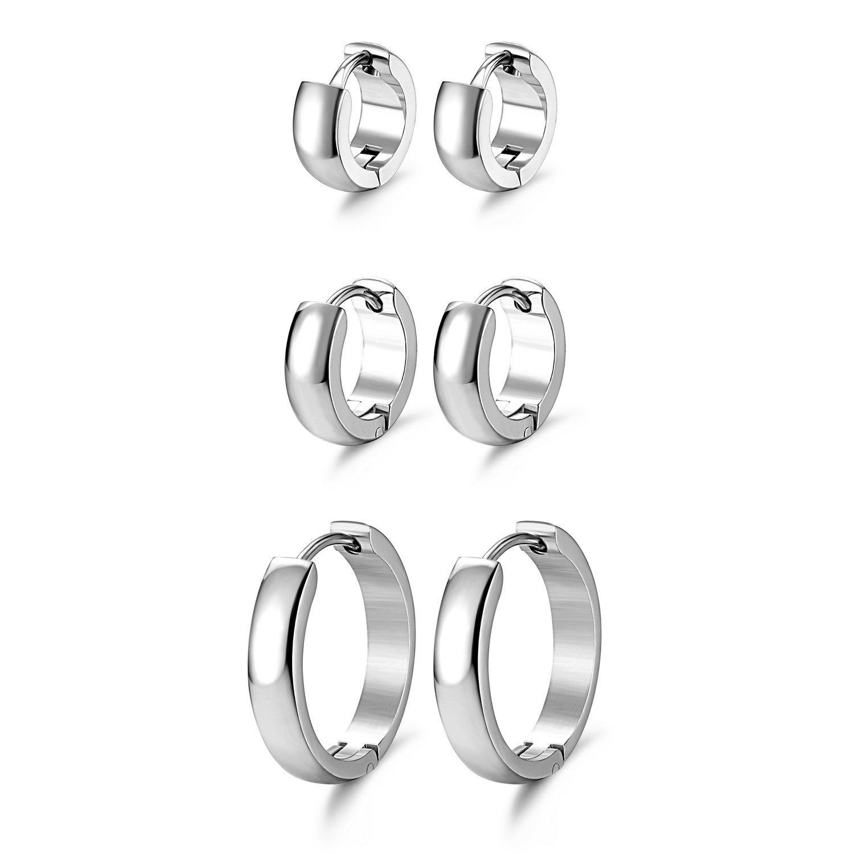 cb2b2683040ef JewelrieShop Hoop Earrings Set Gold Surgical huggie Earrings ...