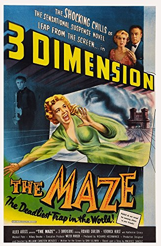 - Posterazzi The Maze Background Michael Pate Top Right from Left: Veronica Hurst Richard Carlson 1953. Movie Masterprint Poster Print, (24 x 36)