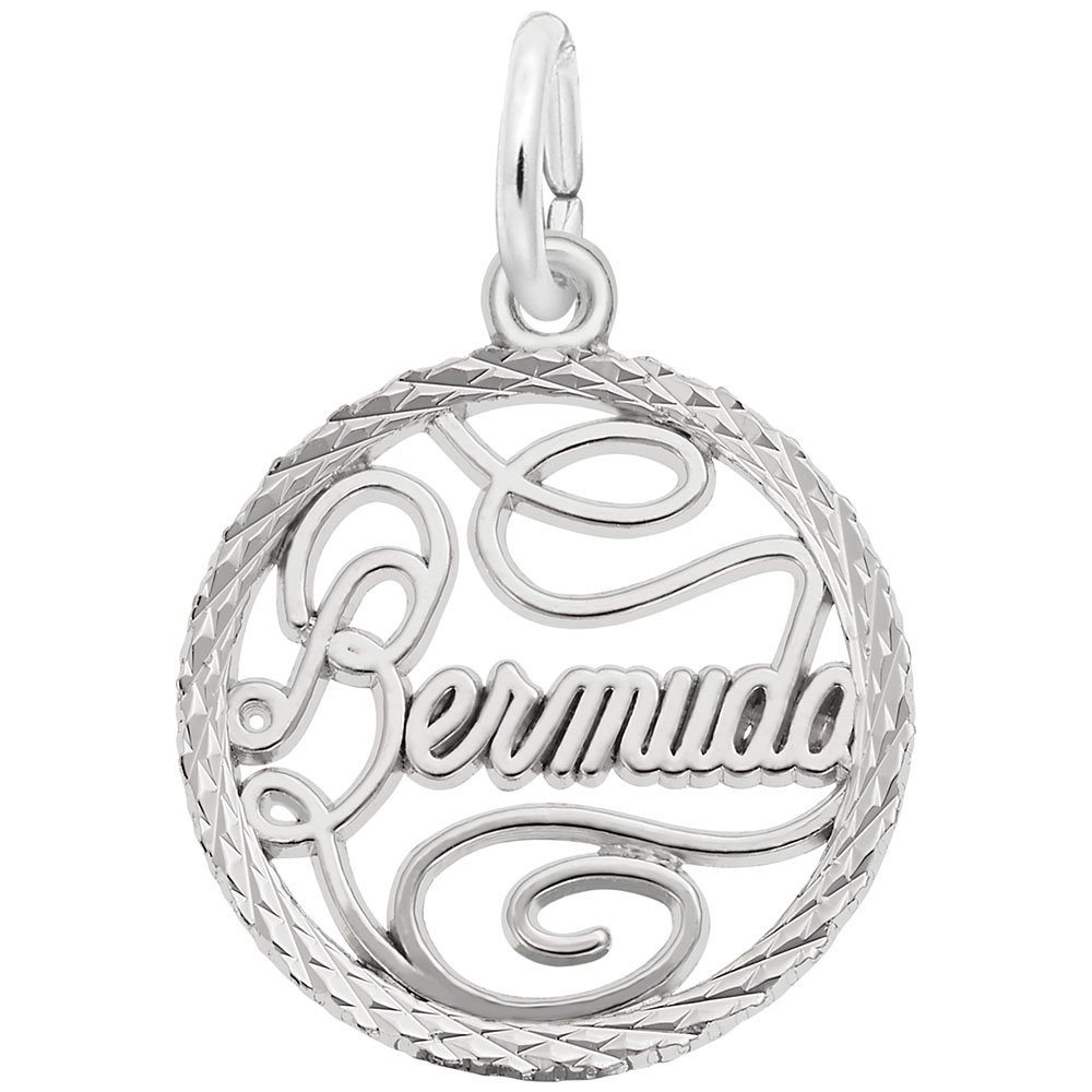 Bermuda Charm In Sterling Silver, Charms for Bracelets and Necklaces