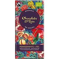 Chocolate & Love Organic Chocolate - Pomegranate 70% Dark Chocolate, 80g