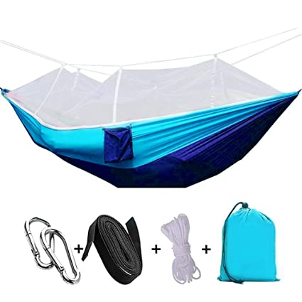Likorlove Camping Hammock With Mosquito Net, Lightweight U0026 Comfortable  Supports Up Max 600Lbs Nylon Portable