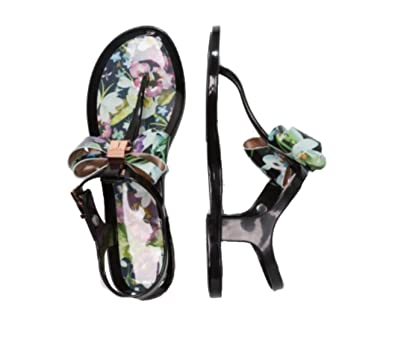 9e6bf0e837bd Image Unavailable. Image not available for. Color  Ted Baker Women s Effiey  PVC Sandal Entangled Enchantment ...