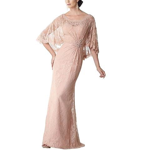 Yangprom Graceful Column Cape-like Sleeves Mother of the Bride/Groom Dress