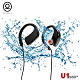 CHKOKKO U1 Bluetooth Headphones, Best Wireless Sports Earphones with Mic, IPX7 Waterproof Technology, HD Sound with Bass, Noise Cancelling, up to 8 hours working time.