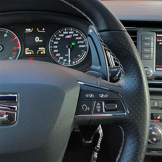Color : Black mlzaq Aluminum Steering Wheel Paddle Shifter Gear Shift Shifter Extension For Seat Leon Cupra 5F Ibiza 6F Arona Ateca Leon ST Alhambra