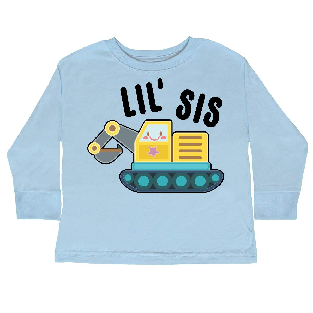 inktastic Lil Sis in with Bulldozer Toddler T-Shirt