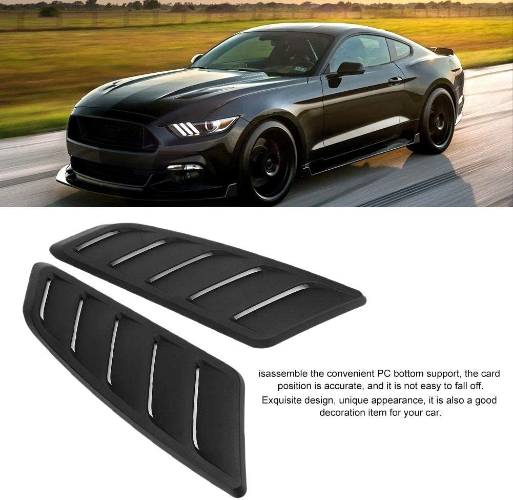 Air Vent Decorations 2Pcs Car Auto Modification Hood Bonnet Vent Cover fit for Ford Mustang 2015-2017