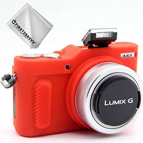 Rojo Cuerpo Completo Caucho de TPU Funda Estuche Silicona para cámara para Panasonic Lumix DMC GF10 GF9 GX900 GX950 GF9 GX850 GX800: Amazon.es: Electrónica