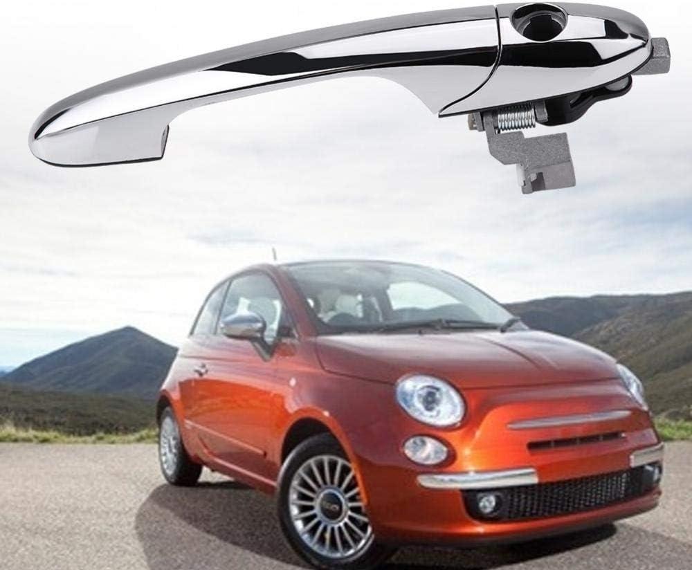 Fiat 500 controladores exterior Chrome Manija De Puerta Nueva Genuino 735485872