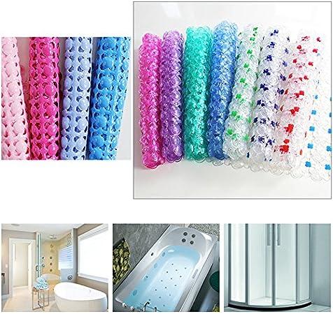 Rot Chen Rui TM rutschfest Mat Badezimmer Dusche Badteppich PVC Kiesel Saugnapf Badewanne