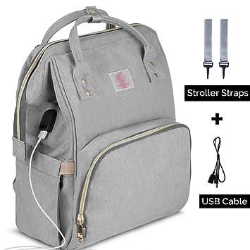 4X Wickeltasche Babytasche Wickelrucksack USB Windel Rucksack  Wasserdichte Bag
