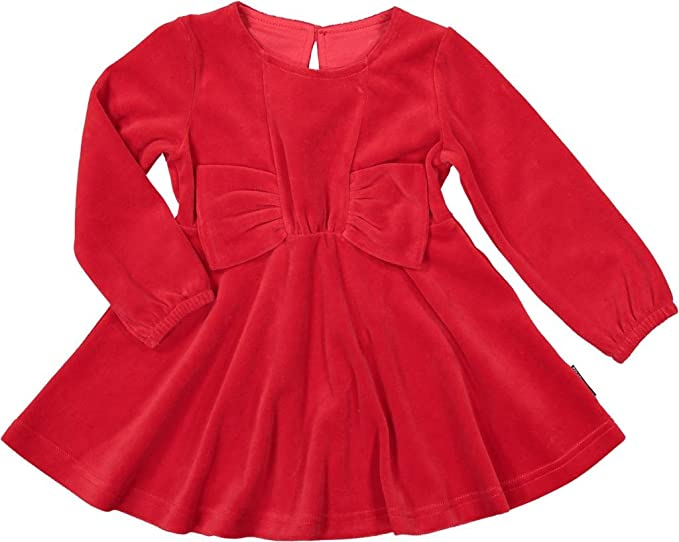 d11e8bfca3a7 Amazon.com  Polarn O. Pyret Big Bow Velour Holiday Dress (Baby ...