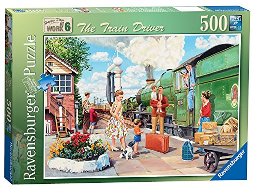 - Ravensburger Happy Days at Work No.6 , The Train Driver, 500pc Jigsaw Puzzle