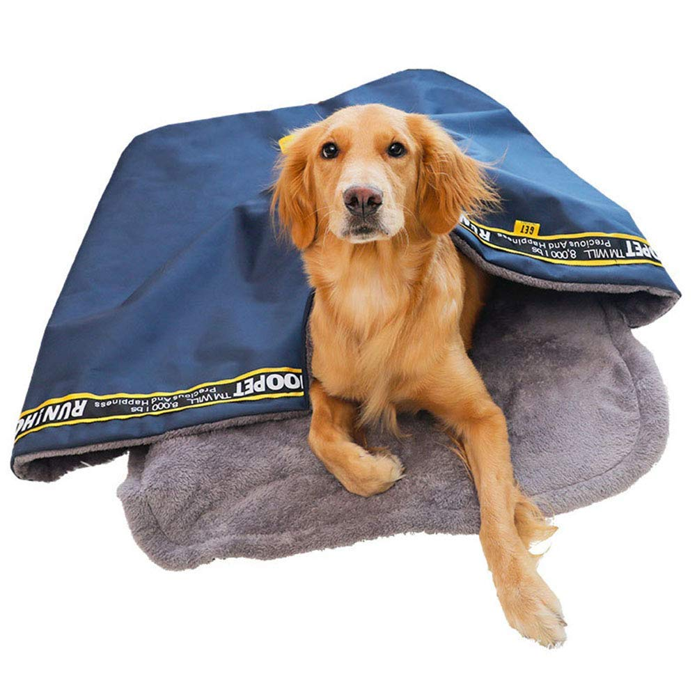Navy Medium Navy Medium Kennel Pads Dog Beds Cat Dog Kennel Sofa Sleeping Bag House Cave Bed Warm Nest for Teddy Puppy Pets Navy Cat Bed Pet Supplies Cover (color   Navy, Size   Medium)