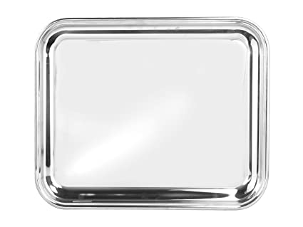 Pinti Inox Bar Bandeja rectangular, acero inoxidable, 33 x 1 x 40 cm