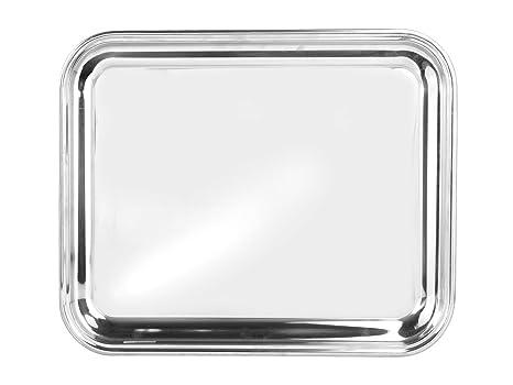 Pinti Inox Bar Bandeja rectangular, acero inoxidable, 33 x 1 x 40 cm