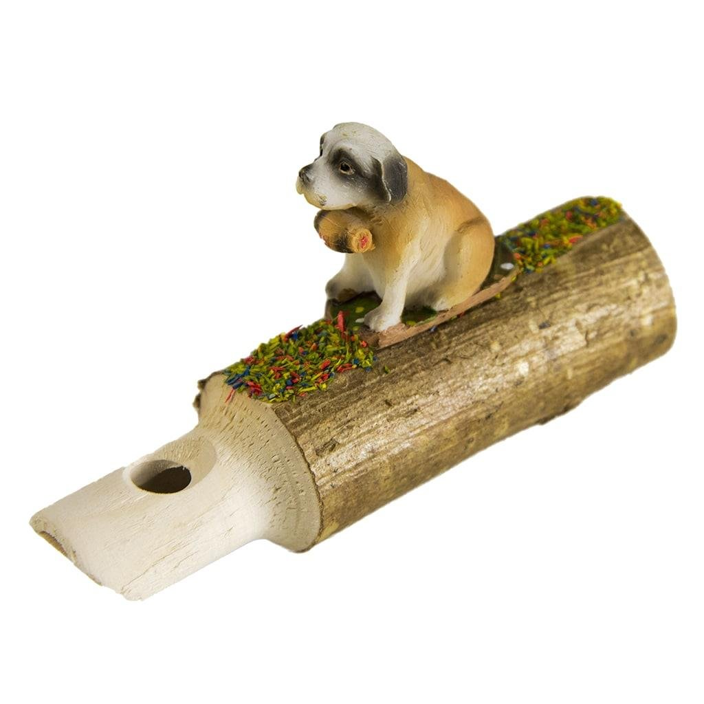 Hermle 0203 Black Forest Cuckoo Whistle with Puppy