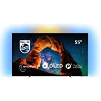 Televisor Philips Ambilight 55OLED803/12 Smart TV de 139 cm (55 Pulgadas) con 4K UHD, P5 Picture Engine, Ultra HD Premium, 99% Wide Color Gamut y Android TV, Color Plata