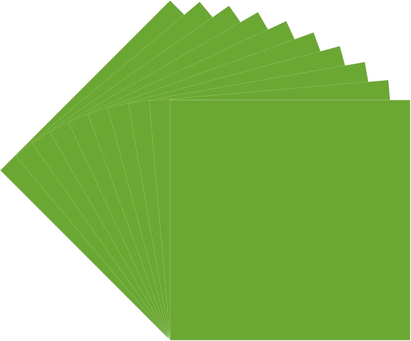 """10 Lime Tree Green Oracal 651 Vinyl Sheets, 12x12"""" Lime Green Permanent Adhesive Backed Vinyl Sheets, Craft Vinyl for Indoor/Outdoor Lettering, Marking, Decorating, Car Decals, Window Graphics, Decors"""
