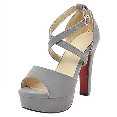 Artfaerie Damen Transparent High Heels Sandalen Riemchen mit Blockabsatz und Schnalle Ankle Strap Open Toe Schuhe