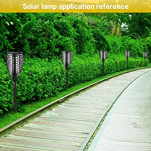 LianLe Solar Torch Lamp Flame Light, Solar Flame Atmosphere Lamp,Waterproof 96LED Landscape Lawn Lamp for Garden Fence by LianLe (Image #6)