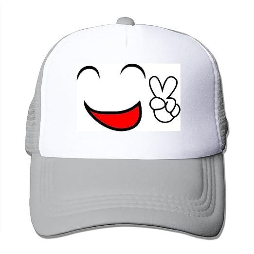 0f6fa67a6e8 NONGFU Comic Emoticon Emoticon Face Happy Peace Smiley Emotions Cartoon Big  Foam Snapback Hats Mesh Back