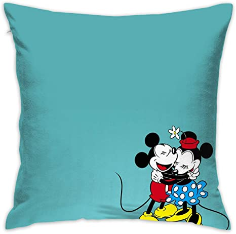 meirdre pillowcase mickey and minnie mouse decorative throw pillow covers cushion cover for home sofa 18 x 18 inch