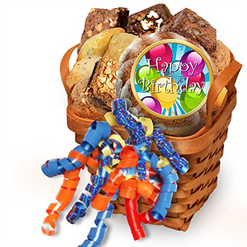 Simply Scrumptous Happy Birthday Muffin Gift Basket (Mini Muffin Basket)